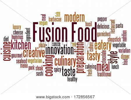 Fusion Food, Word Cloud Concept