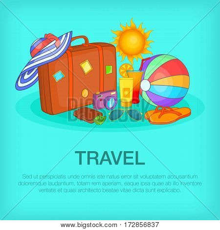 Travel concept kit. Cartoon illustration of travel concept vector concept for web