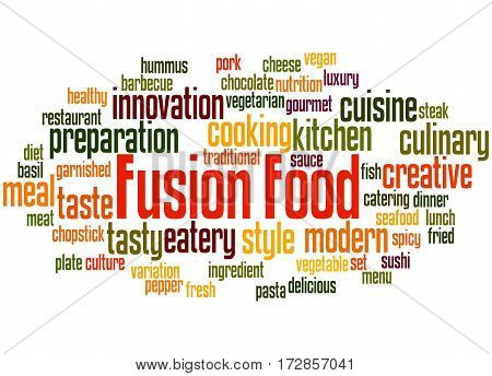 Fusion Food, Word Cloud Concept 7