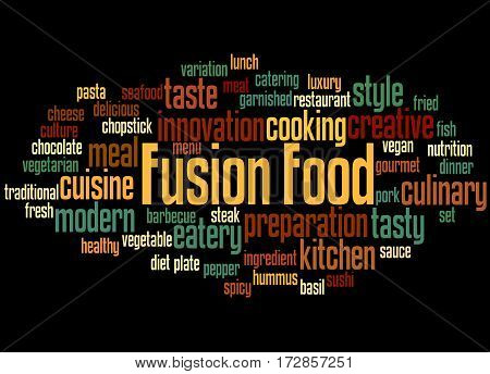 Fusion Food, Word Cloud Concept 8