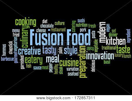 Fusion Food, Word Cloud Concept 9