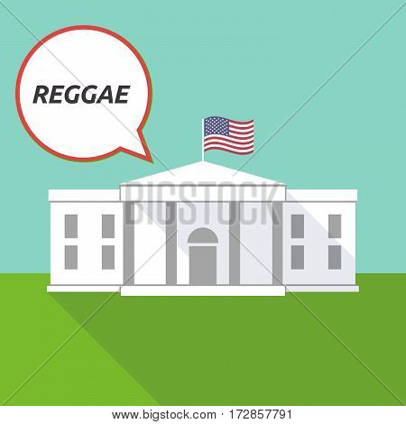 The White House With    The Text Reggae