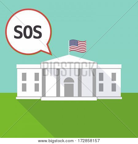 The White House With    The Text Sos