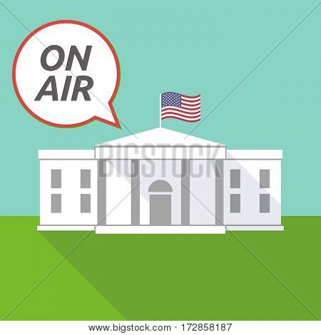 The White House With    The Text On Air