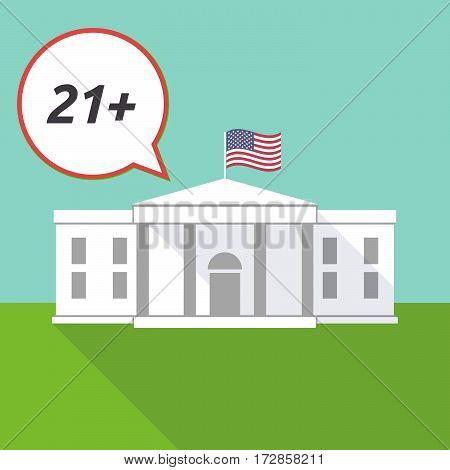 The White House With    The Text 21+