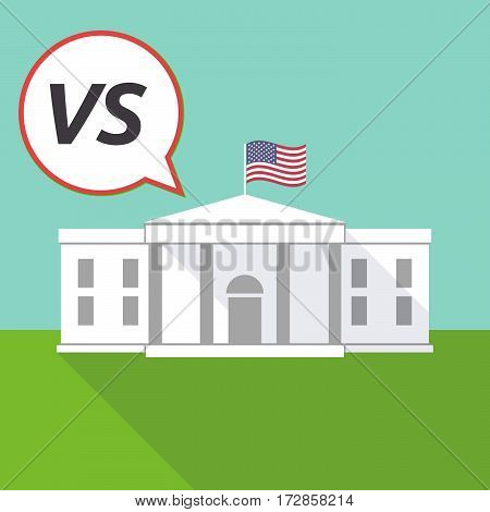 The White House With    The Text Vs