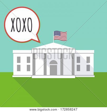 The White House With    The Text Xoxo