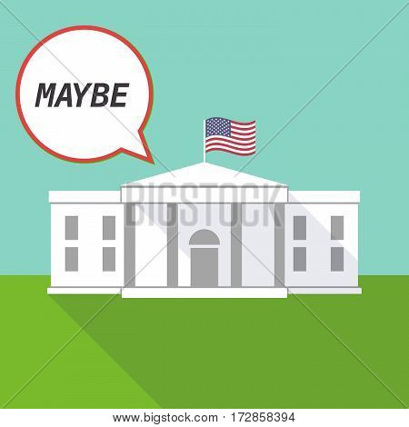 The White House With    The Text Maybe
