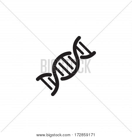 DNA and Medical Services Icon. Flat Design. Isolated.