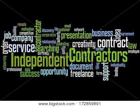 Independent Contractors, Word Cloud Concept 9