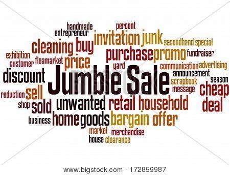 Jumble Sale, Word Cloud Concept