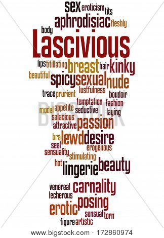 Lascivious, Word Cloud Concept