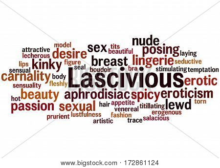 Lascivious, Word Cloud Concept 3