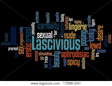 Lascivious, Word Cloud Concept 5