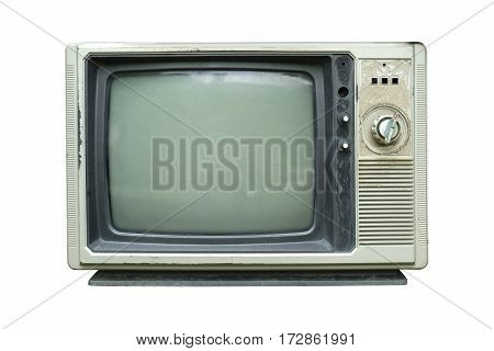 Retro television - Old vintage TV isolate on white retro technology.