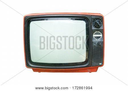 Retro television - Old vintage TV isolate on white retro technology.