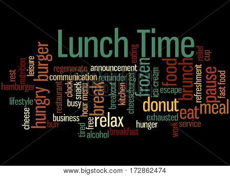 Lunch Time, Word Cloud Concept 2