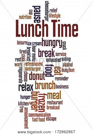 Lunch Time, Word Cloud Concept 7