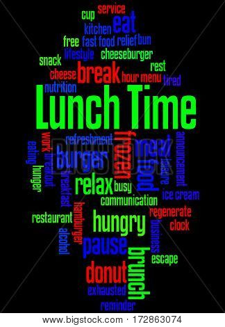 Lunch Time, Word Cloud Concept 9