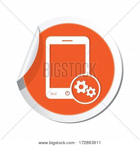 Phone icon with settings menu. Vector illustration