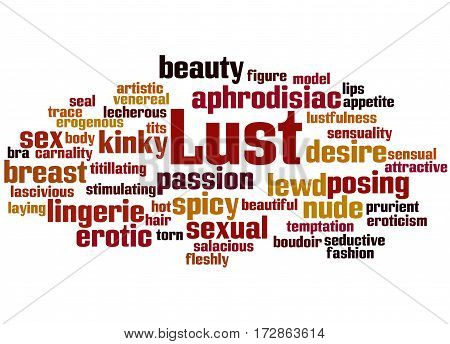 Lust, Word Cloud Concept 7