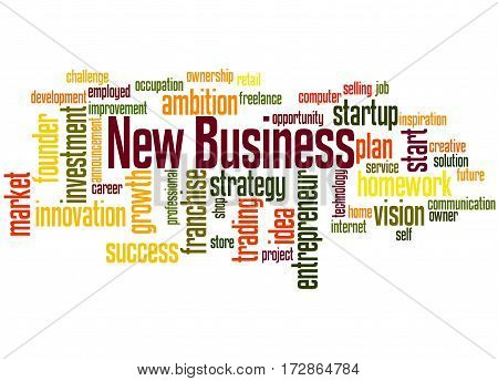 New Business, Word Cloud Concept 6