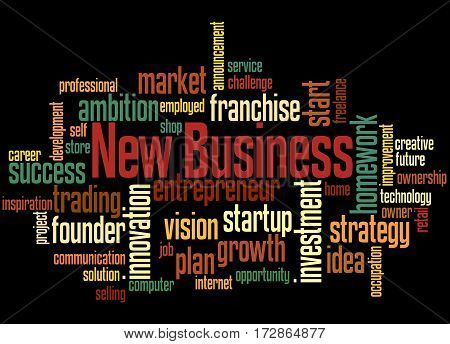 New Business, Word Cloud Concept 7
