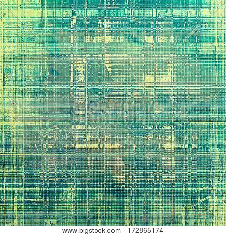Damaged retro texture with grunge style elements and different color patterns: yellow (beige); gray; green; blue; cyan