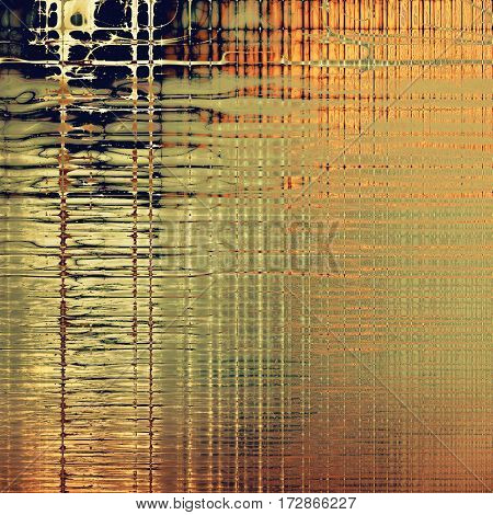 Grunge retro composition, textured vintage background. With different color patterns: yellow (beige); brown; gray; red (orange); black
