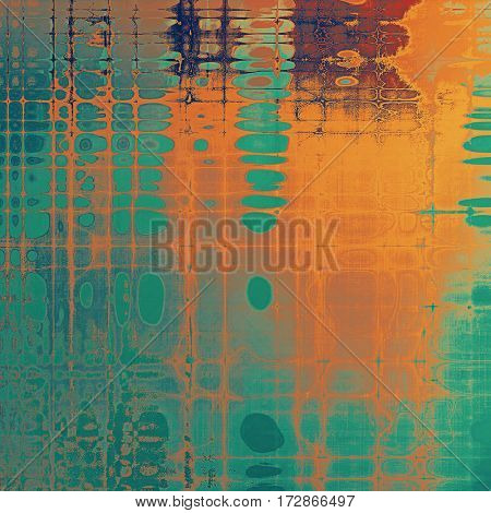 Vintage old-style texture, worn and rough grunge background with different color patterns: yellow (beige); brown; red (orange); blue; cyan