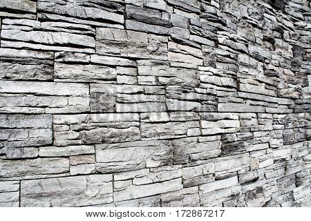Stone wall texture pattern as a background