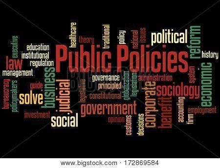 Public Policies, Word Cloud Concept 2