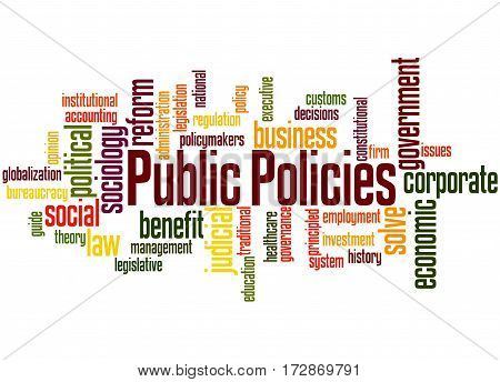 Public Policies, Word Cloud Concept 4