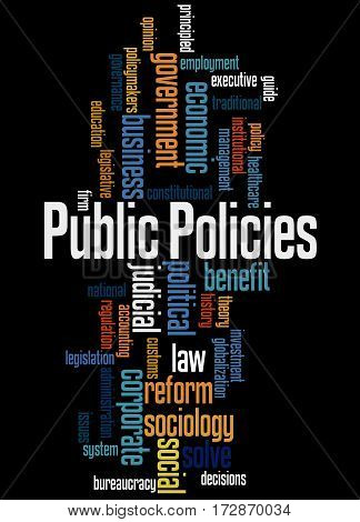 Public Policies, Word Cloud Concept 7