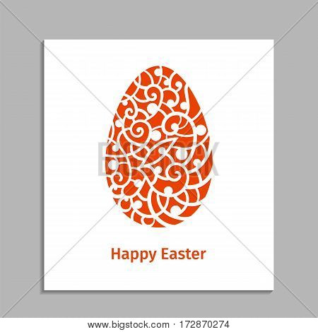 Vector illustration. Template for laser cutting.Easter egg. Decorative element. Greeting card.
