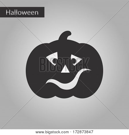 black and white style icon of halloween pumpkin