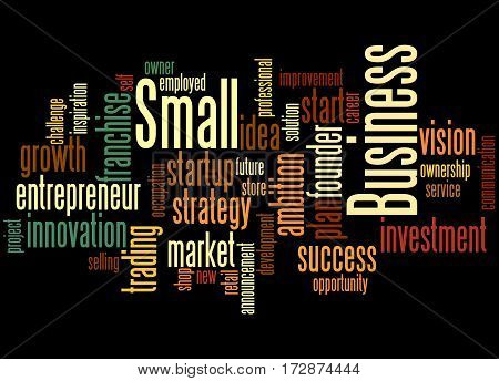 Small Business, Word Cloud Concept 4
