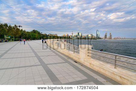 Seaside Boulevard In Baku