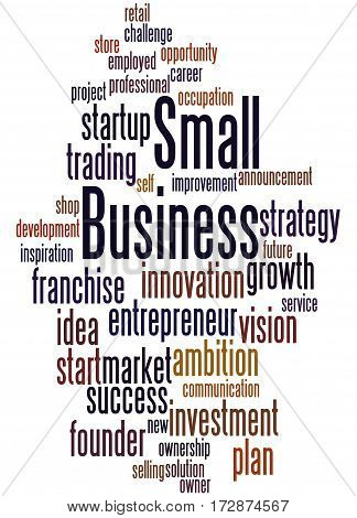 Small Business, Word Cloud Concept 6