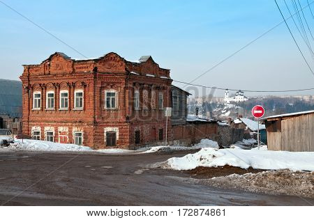 Old residence of the wealthy citizens of the late 19th century. Kamensk-Uralsky. Russia.