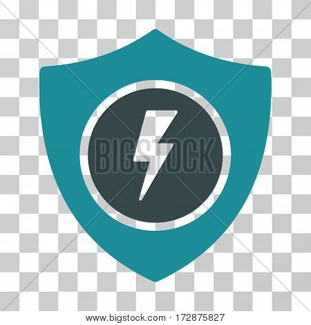 Electric Guard vector pictograph. Illustration style is flat iconic bicolor soft blue symbol on a transparent background.