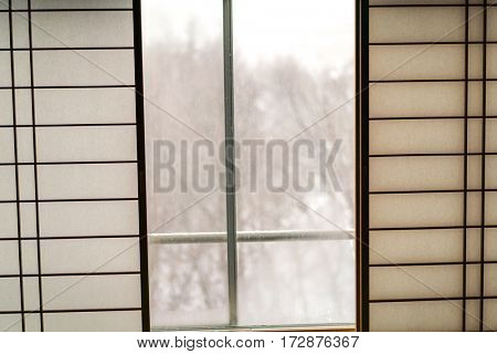 Japanese sliding paper window
