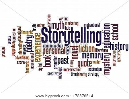 Storytelling , Word Cloud Concept 3
