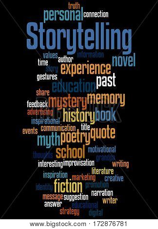 Storytelling , Word Cloud Concept 8