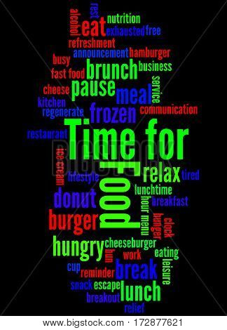 Time For Food, Word Cloud Concept 3