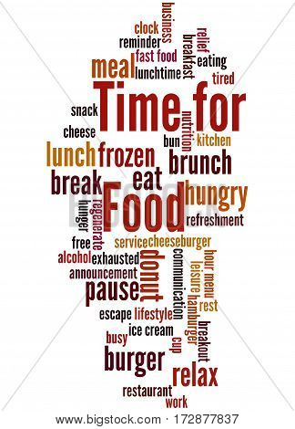 Time For Food, Word Cloud Concept 5