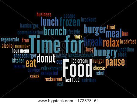 Time For Food, Word Cloud Concept 7