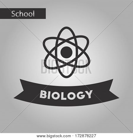 black and white style icon of biology molecule