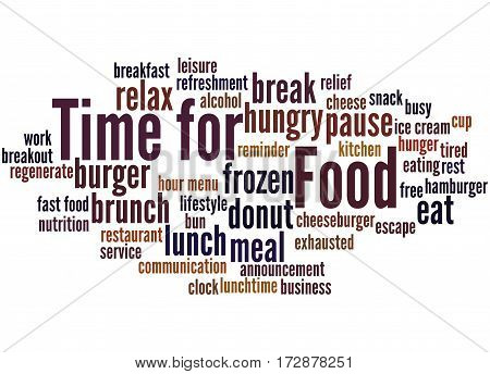 Time For Food, Word Cloud Concept 8