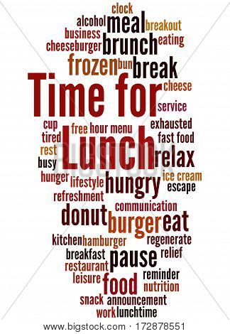 Time For Lunch, Word Cloud Concept 4
